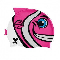 Casca-inot-CharacTYR-Happy-Fish-Jr.-Swim-Cap-Pink